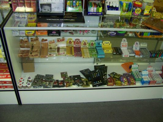 Local Store shelf where Synthetic drugs are sold