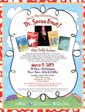 Dr Seuess Event
