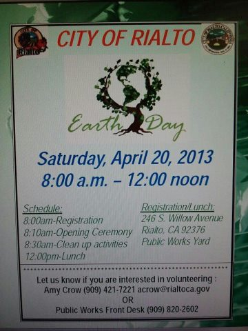 Earth Day Rialto
