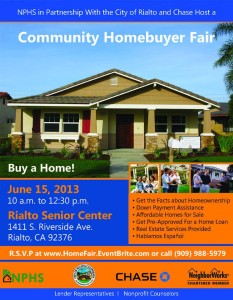 RSVP @ www.homefair.eventbrite.com or call 909-988-5979