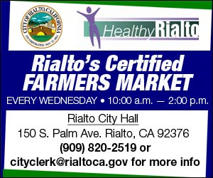 Every Wednesday, from 10:00 am – 2:00 pm, Rialto City Hall, 150 S. Palm Ave. (Grass Area off South Parking Lot). For more info, please contact the Rialto City Clerk's Office at (909) 820-2519 or cityclerk@rialtoca.gov.