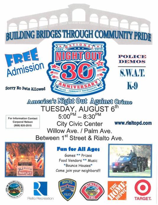 Flyer from city website www.rialtoca.gov