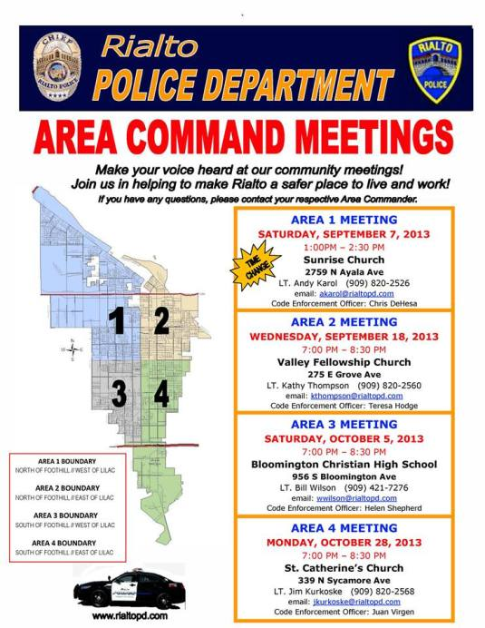 Area Commands End of 2013