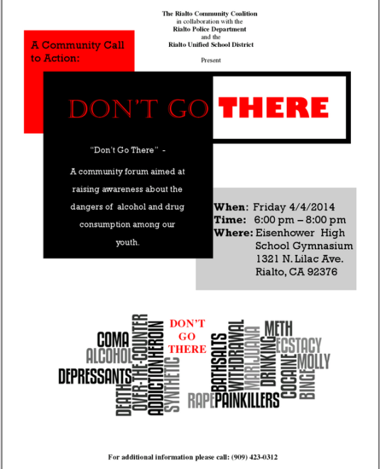 Don't Go There Flyer