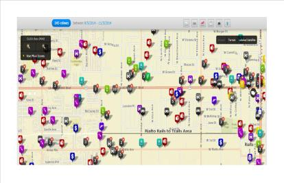 Crime Mapping Rails to trails
