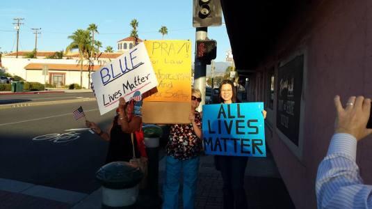 Blue Lives Matter 8 signs