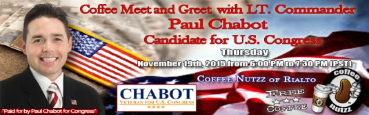 Join Paul Chabot for Coffee & Conversation November 19th
