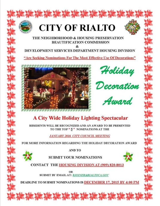 Rialto Holiday Contest