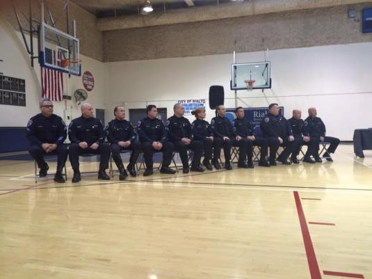 Photo from the Rialto Police Promotion Ceremony Photo Credit Rialto Network