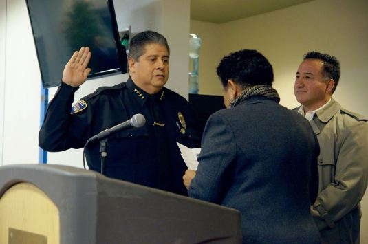 Police Chief Randy Deanda Sworn in as Rialtos's new top cop photo credit Rialto Network
