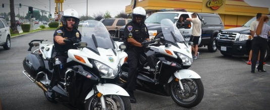 Corporal Russo on his Police Bike