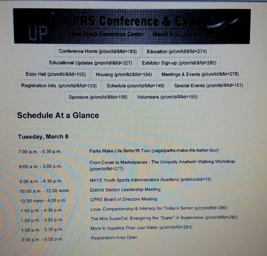 Conference Schedule 1