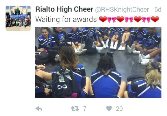 Rialto Cheer Waiting