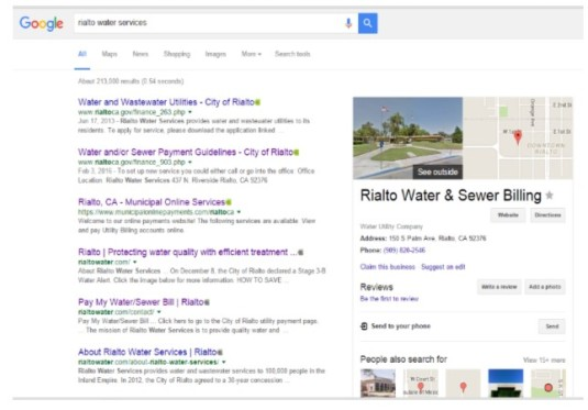 Rialto Water Services google
