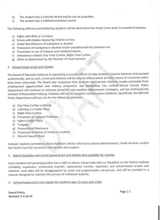 Draft of SBCUSD Board Policy School-Wide Positive Behavior Intervention and Support 2-4-16v4 Pg2 001