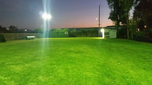 December 1, 2015 I'd like to give a big shout out to Mike Hayes from the city of Rialto for restoring our lights back of the canine training yard. Thank you Mike and team!