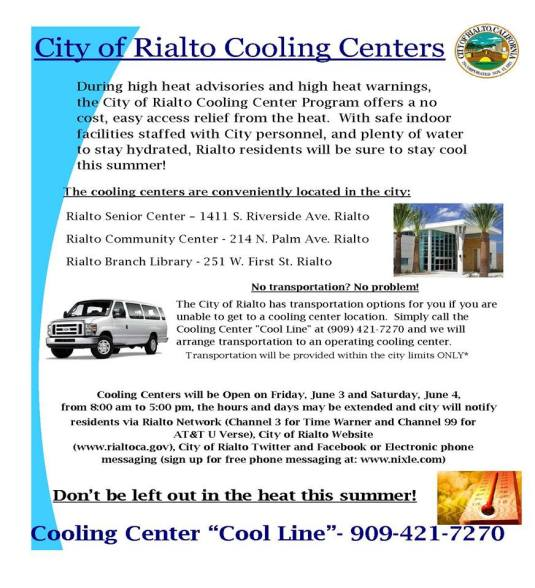 rialto cooling center