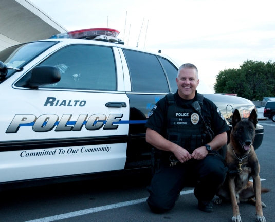 Officer Glen with one of his former K9's Picture taken from Rialto Police Department1684 × 1360Search by image